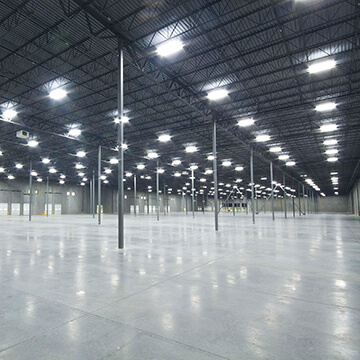 LED Lighting for warehouses and factories by Mandel Electric
