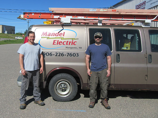 electricians from mandel electric, marquette